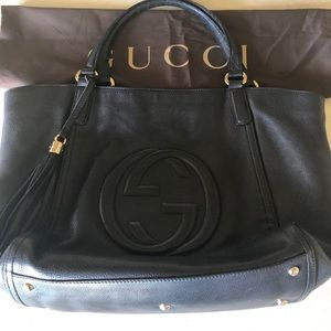 Authentic Gucci Large Soho Pebbled Leather Bag